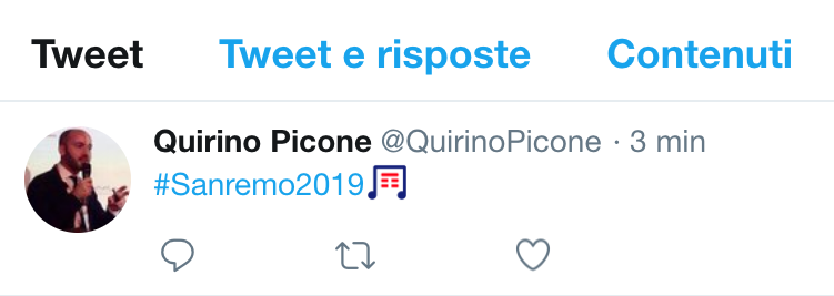 Sanremo 2019: Twitter vende l'hashtag a Tim